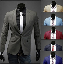 Blazer Casual Estilo Terno Slim Fit 043