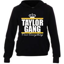 Casaco Moletom Rap - Wiz Khalifa Taylor Gang - Bolso E Capuz