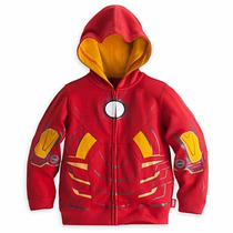 Disney Store Casaco Moleton Homem De Ferro -produto Original