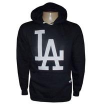 Blusa Moletom Los Angeles Dodgers Baseboll Preta La