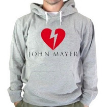 Blusa Moletom Jhon Mayer Heartbreak Canguru Com Capuz