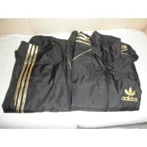 Conjunto Tactel Adidas Preto/dourado Xxl Masculino