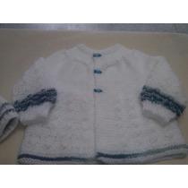 Casaco De Tricô Com Touca Feito A Mão Bebê Blusa De Inverno