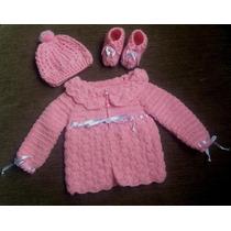 Kit Bebê Em Tricô - Feito À Mão