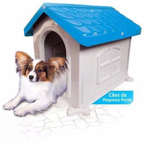 Casa Plástica Para Cães N2 Azul