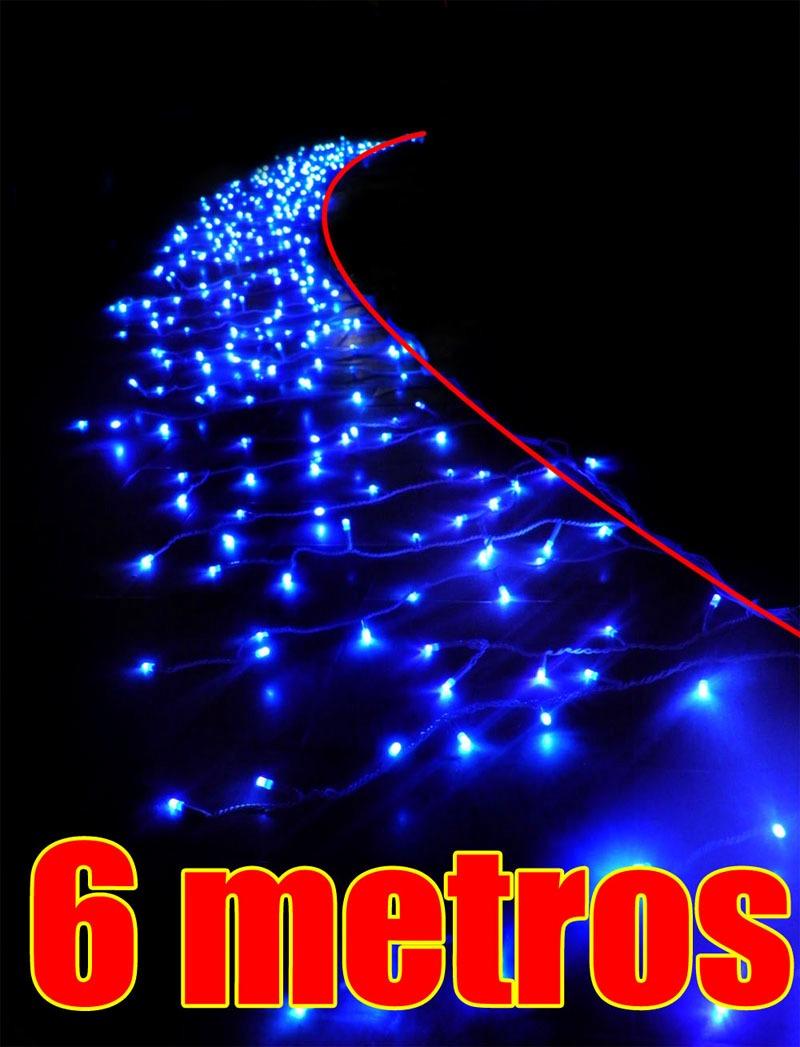 decoracao lampadas led:Cascata Pisca Pisca Led Azul 400 Lampadas Natal Decoracao – R$ 96,90