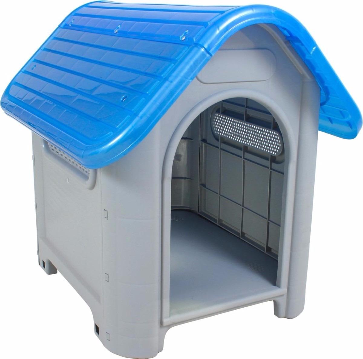 Casinha Cachorros Gatos Pet De Plastico Porte Médio R$ 189 00 no  #0677C5 1200x1187