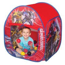 Toca House Transformers Com Bolinha - Braskit
