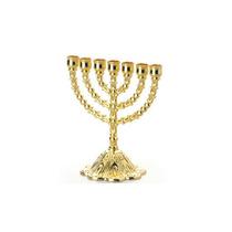 Castiçal Dourado Cor De Ouro 7 Velas Frete Gratis