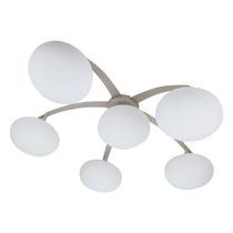 Plafon Spider Branco - Bivolt - Em Vidro Leitoso E Metal