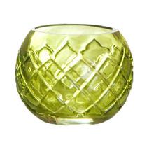 Porta Vela Classic Balls Vidro Verde Ø 4cm