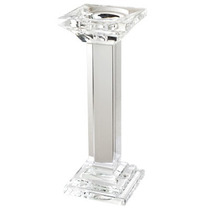 Castiçal De Vidro Cristal Porta Vela Decorativo Casa Igreja