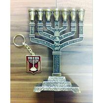 Candelabro Menorah Israel Promoção + Brinde