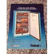 Folheto Propaganda Antiga Freezer Vertical Consul 180 Litros