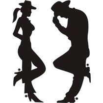 Adesivo Casal Cowboy E Cowgirl Frete Gratis