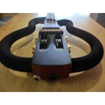 Cavaco Ramá Vazado Amp Fone Embutido Silent Travel 4 Strings