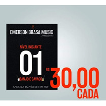 Dvd -1º Curso Iniciante Cavaco/banjo (vídeos E Arquivos Pdf)