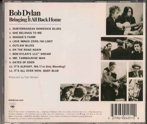 Cd - Bob Dylan - Bringing It All Back Home - 1965