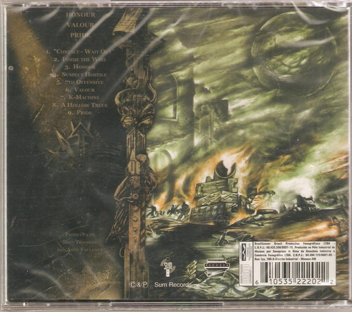 Cd Bolt Thrower - Honour Valour Pride