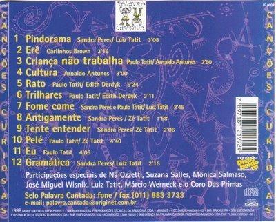 Palavra Cantada cd cd Canções Curiosas Palavra