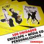 100 Capas De Cd - Envelope Cd Simples + Cd Personalizado