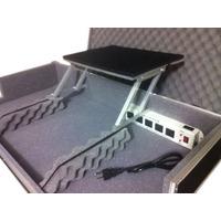 Case Cdj Mixer C/ Plataforma P/ Notebook + Regua De Energia