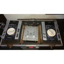 Hard Case Completa Cdj 200 Pioneer + Mixer