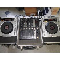 Par De Cdj 800 Mk2 Pioneer + Mixer Djm 700 Mk2 Pioneer Zero.