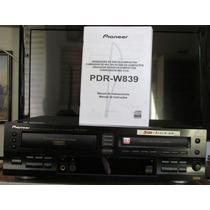 Gravador De Cd De Mesa Pioneer Pdr W839 Profissional Manual