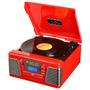 Rádio Autorama Vermelho 5w, Usb, Mp3, Cd, Rádio E Vinil