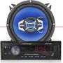 Rádio Mp3 + Par Alto Falante Hurricane 5 Pol Quadriaxial 65w
