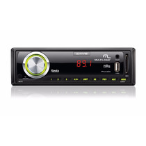 Som Automotivo Wave Multilaser Mp3 7cores De Led Usb Sd P2