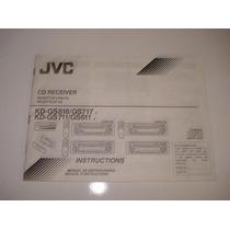 Manual Instruções Cd Automotivo Jvc Kd-gs818 717 711 611