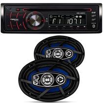 Auto Radio H-buster Hbd 2480 Vw Par Falante Orion 6x9 200w
