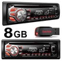 Toca Cd Pioneer Automotivodeh 1650 Radio Usb-aux-mp3+pen 8gb