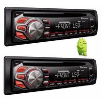 Toca Cd Player Pioneer Automotivo Deh 1750 Radio Aux Mp3 Usb