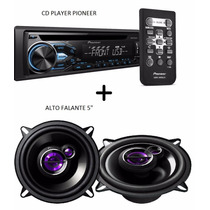 Cd Player Pioneer Mp3 Aux Deh-x1880ub + Alto Falante 5 50w