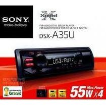 Rádio Mp3 Sony Dsx-a35u Am/fm Com Controle, Novo, Na Caixa.