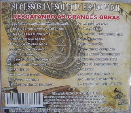 Cd Sucessos Inesqueciveis Do Vinil : Diana Frete Gratis