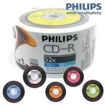 50 Midia Cd-r Virgem Philips C/ Logo Igual Disco De Vinil