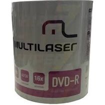100 Dvd-r Multilaser Logo (consulte Frete Antes Do Lance)