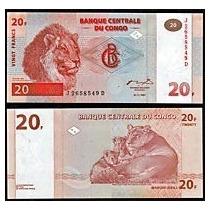 Congo (ex-zaire) 20 Francos 1997 P. 88a Fe Cédula Tchequito