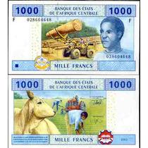 Cas Guiné Equatorial P-507 F Fe 1000 Franc 2002 * Q J *