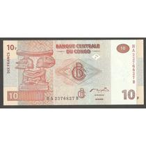 Cedula - Congo Democratic Republic Fe 10 Francs 2003