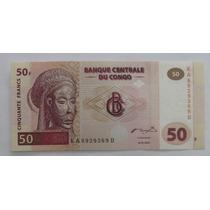 Congo: Bela Cédula De 50 Francs De 2000 Fe