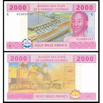 Cas Chad Chade P-608c Fe 2.000 Francs 2003 * Q J *