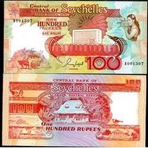 Seychelles Ilhas Seicheles P-35 Fe 100 Rupees 1989 * Q J *