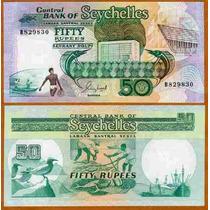 Seychelles Ilhas Seicheles P-34 Fe 50 Rupees 1989 * Q J *