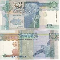 Cedula De Seychelles De 10 Rupees Fe