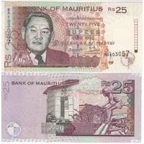 Cedula De Mauritius De 25 Rupees - Fe